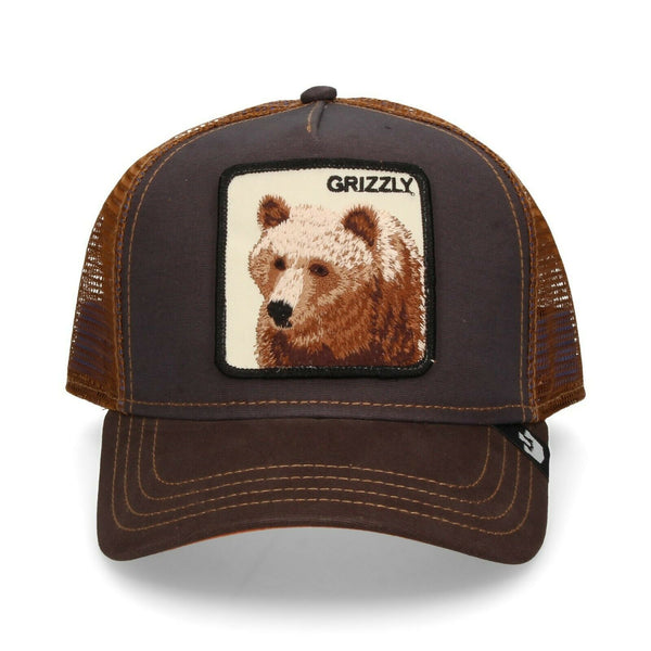 Goorin Bros Animal Farm Trucker Hat Brown Grizzly Front