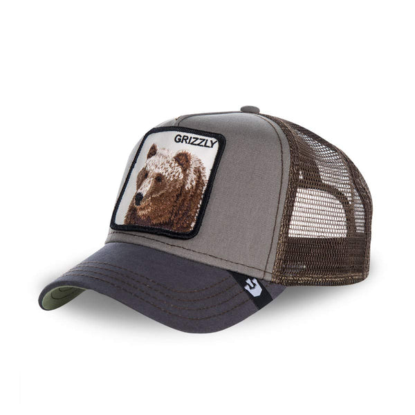 Goorin Bros Animal Farm Trucker Hat Olive Grizzly