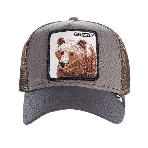 Goorin Bros Animal Farm Trucker Hat Olive Grizzly Front
