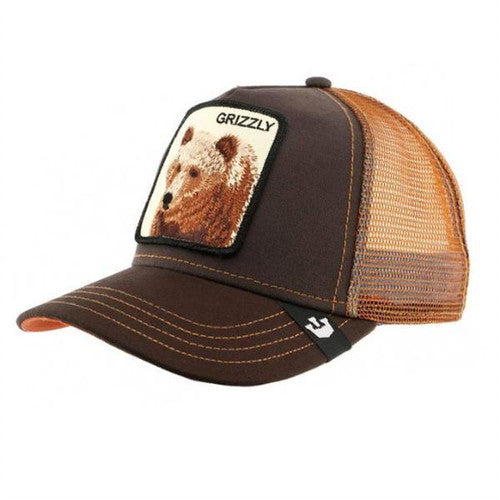 Goorin Bros Animal Farm Trucker Hat Brown Grizzly