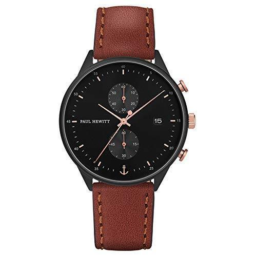 Paul Hewitt Chrono Black Sunray Brown Watch