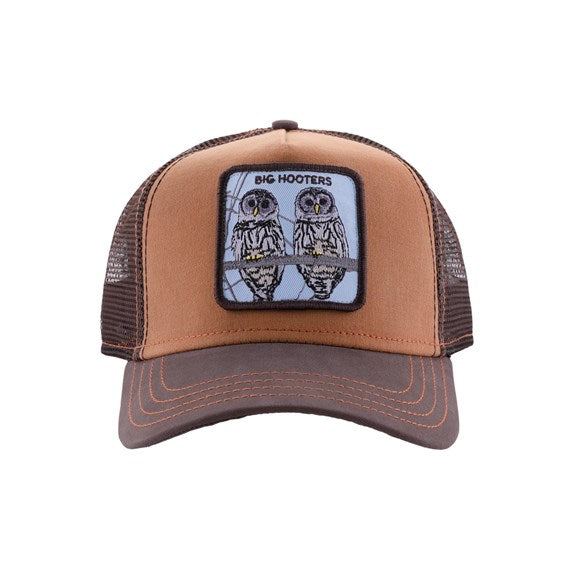 Goorin Bros Animal Farm Trucker Hat Brown Big Hooters Front