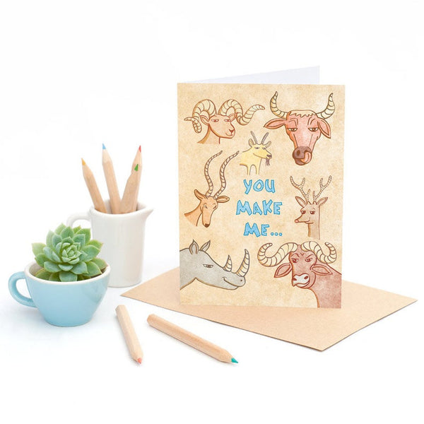 Horny - Greeting Card