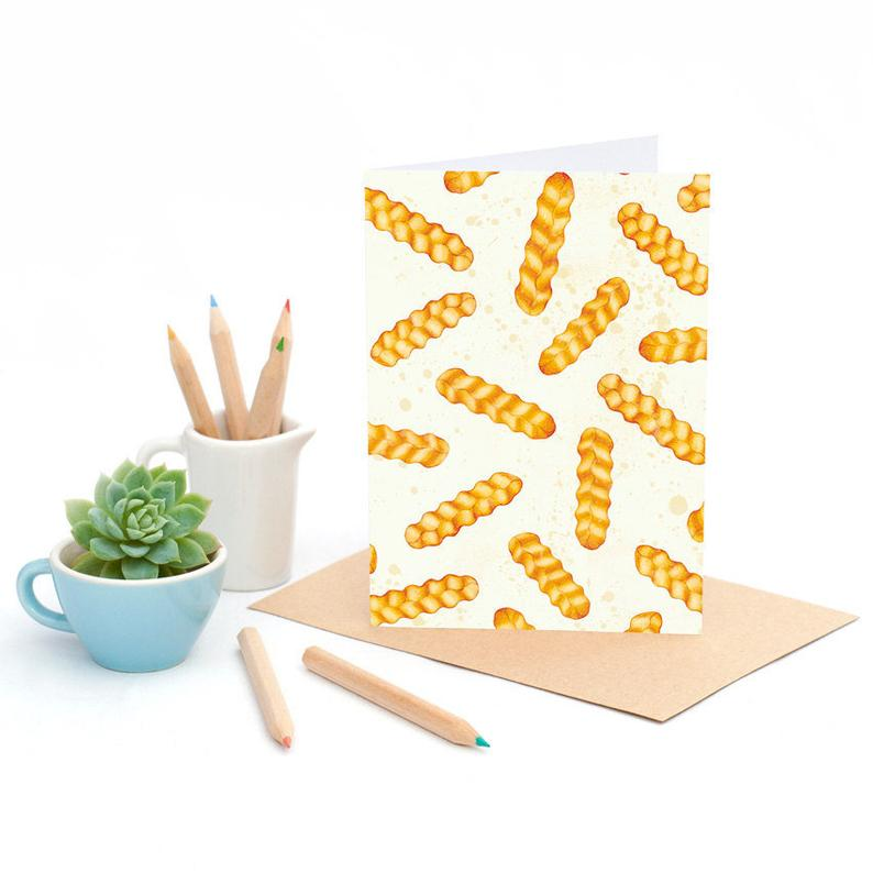 Hot Chips-Greeting Card