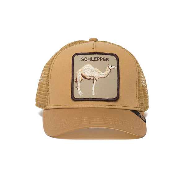 Goorin Bros Animal Farm Trucker Hat Brown Hump Day Schlepper Front