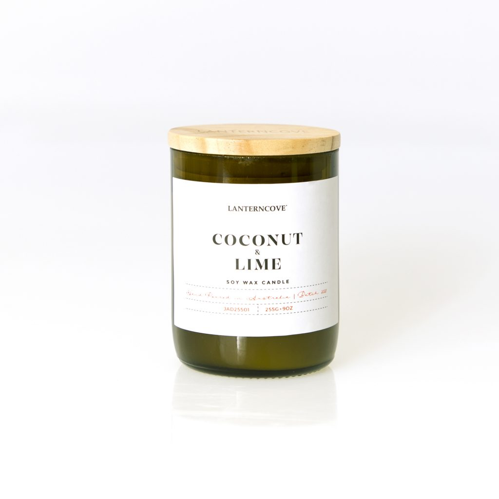 Lanterncove Coconut & Lime Soy Wax Candle