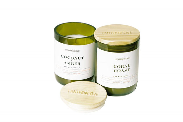 Lanterncove Jade soy wax candles