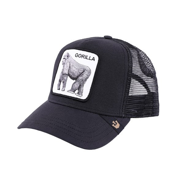 Goorin Bros Animal Farm Trucker Hat Black King of the Jungle Gorilla