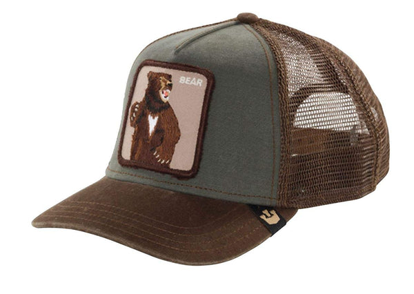 Goorin Bros Animal Farm Trucker Hat Olive Lone Star Bear