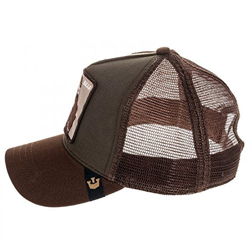 Goorin Bros Animal Farm Trucker Hat Olive Lone Star Bear Side