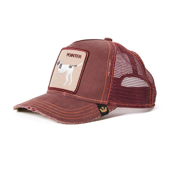 Goorin Bros Animal Farm Trucker Hat Wine Pointer Dog