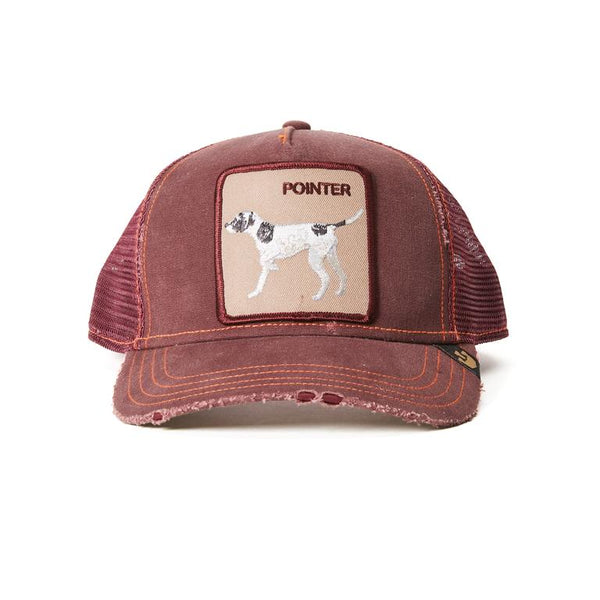 Goorin Bros Animal Farm Trucker Hat Wine Pointer Dog Front