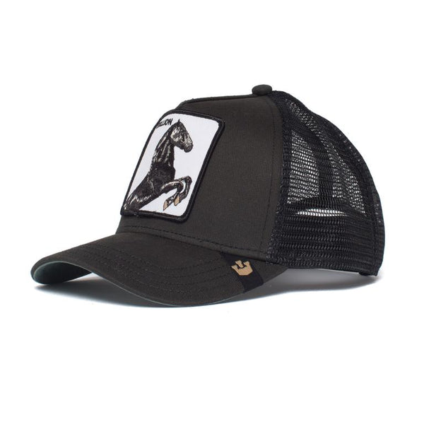 Goorin Bros Animal Farm Trucker Hat Black Stallion