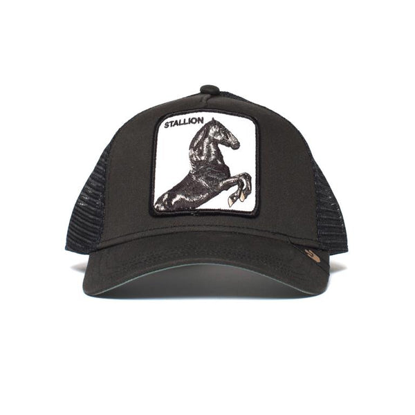 Goorin Bros Animal Farm Trucker Hat Black Stallion Front