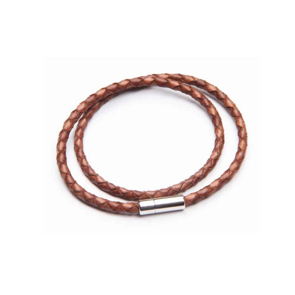 Tan Leather Double Wrap Bracelet