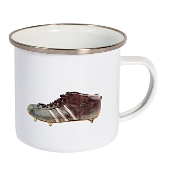Three Stripe Boot Enamel Mug