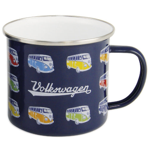VW T1 Bus Enamel Mug - Parade