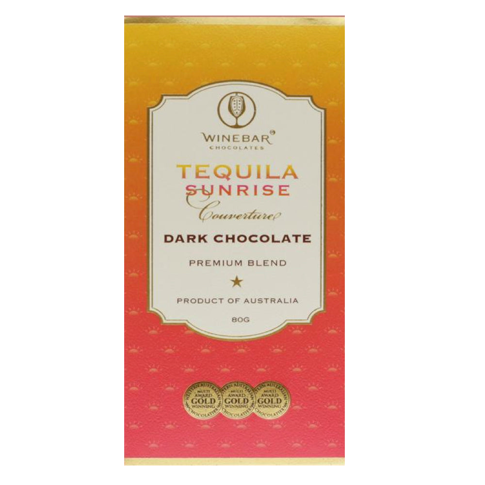 Winebar Chocolates Tequila Sunrise Dark Chocolate