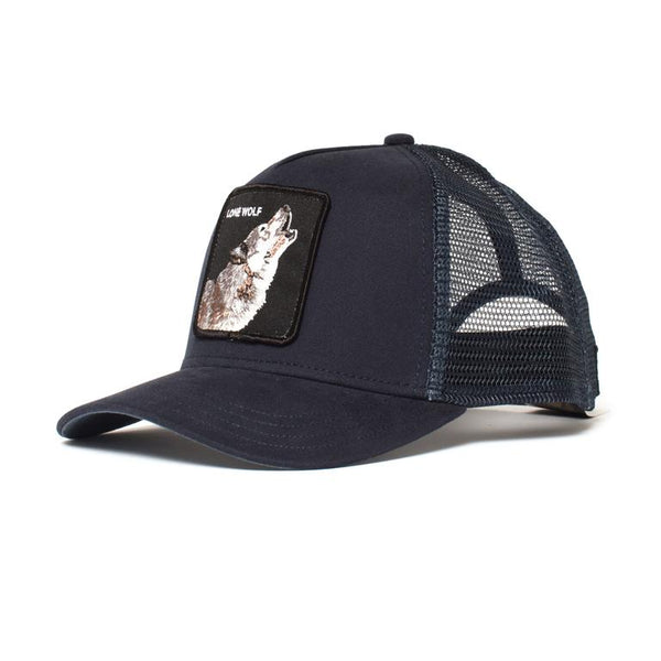 Goorin Bros Animal Farm Trucker Hat Navy Lone Wolf