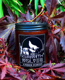 Mini Amber Forest Natural Soy Wax Candle 60ml - Run With Wolves