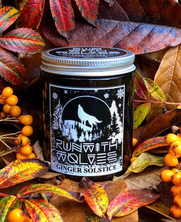 Ginger Solstice Soy Wax Candle - Run With Wolves