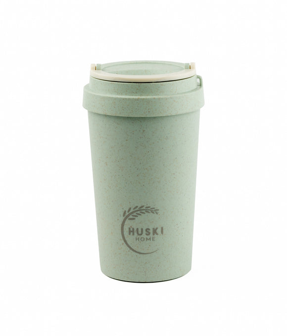 Rice Husk Travel Cup - Duck Egg Blue 400ml (Regular) - Huski Home