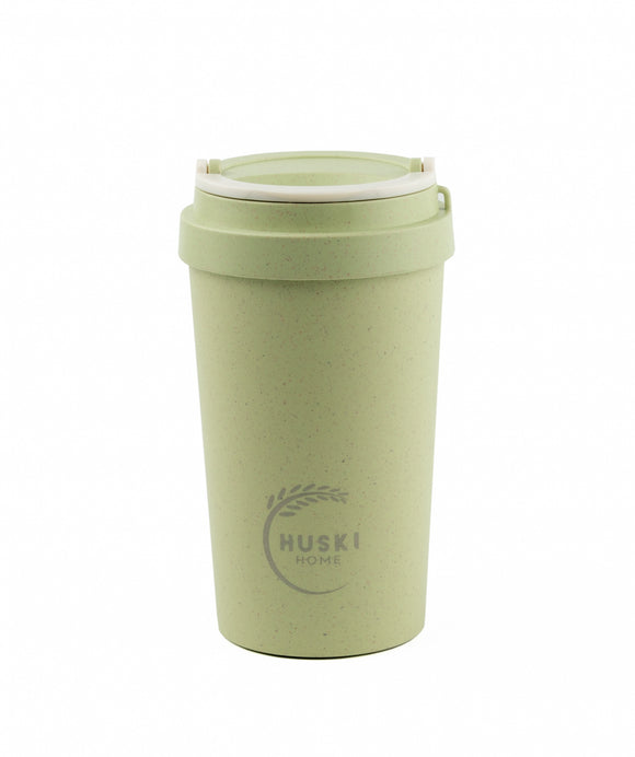 Rice Husk Travel Cup - Pistachio Green 400ml (Regular) - Huski Home