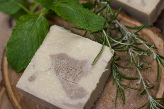 Spearmint & Rosemary Handmade Natural Soap & Shampoo Bar - Bean & Boy