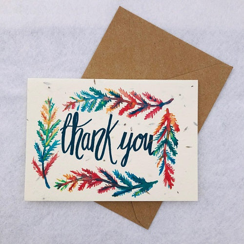 Thank You - Plantable Wildflower Greetings Card - Loop Loop