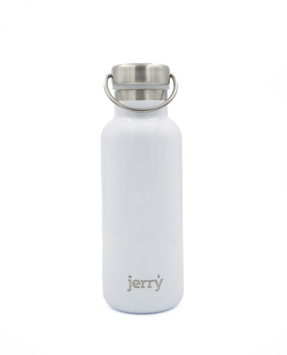 Arctic White Stainless Steel Double-Walled Drinking Bottle 550ml - Jerry Bottle