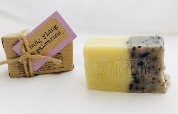 MINI Ylang Ylang & Palmarosa Handmade Natural Soap - Bean & Boy