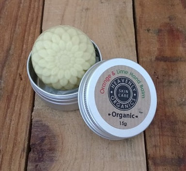 Orange & Lime Organic Hand Balm 15g - Heavenly Organics
