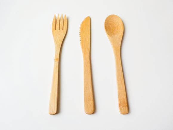 Bamboo Reusable Cutlery Set