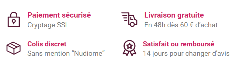 Nudiome - Badges de confiance