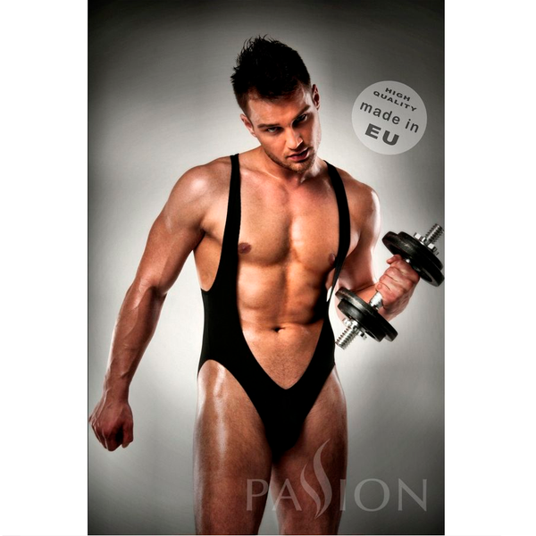 Body slip de sport suspensoir Jockstrap noir - Passion Men Lingerie