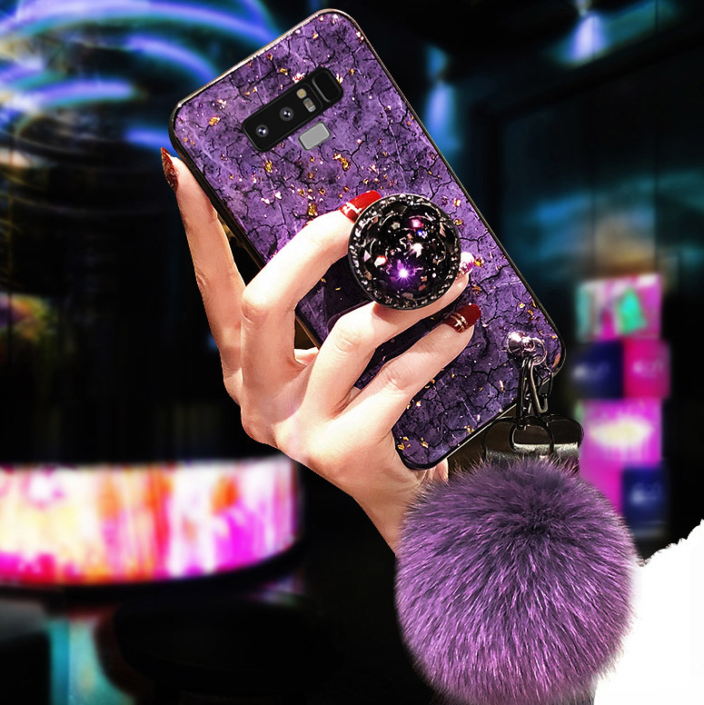2019[Samsung] New Fashion Fiber Soft Fur ball Diamond galaxy case-Buy 2 Free shipping