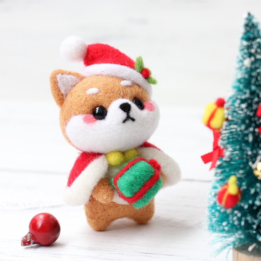 1Set Non Finished Wool Felt Handmade Poked DIY Shiba Inu Toy