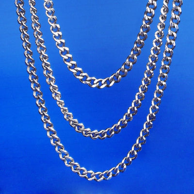 5.5mm Miami Cuban Link Chain Set in White Gold