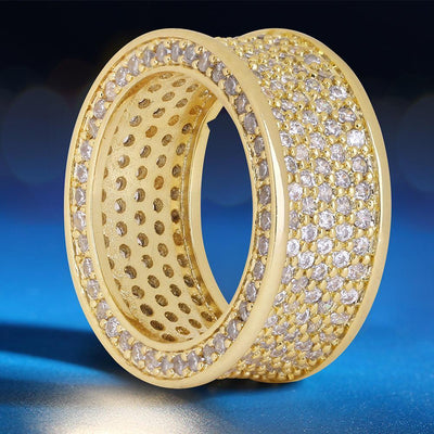 Iced Infinity Ring in 14K Gold - jewelrychamps