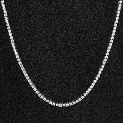3mm Tennis Chain in White Gold