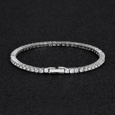 3mm Tennis Bracelet in White Gold - jewelrychamps