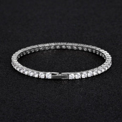 4mm Tennis Bracelet in White Gold - jewelrychamps