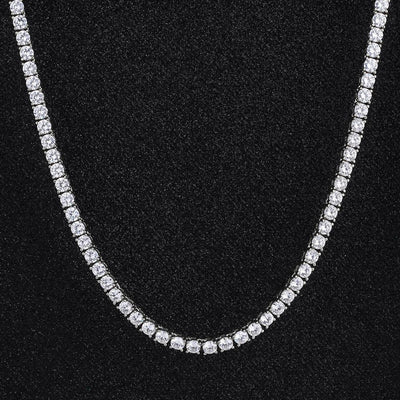5mm Tennis Chain in White Gold