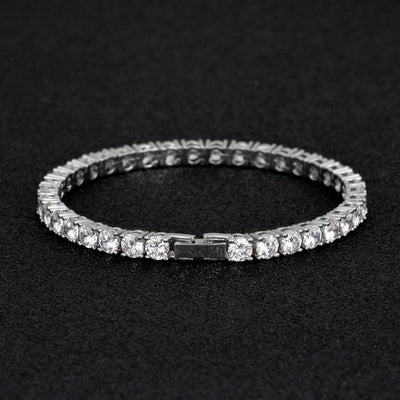 5mm Tennis Bracelet in White Gold - jewelrychamps