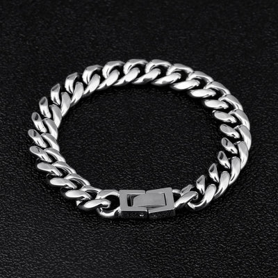 10mm Miami Cuban Link Bracelet in White Gold - jewelrychamps