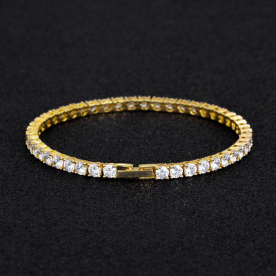 4mm Tennis Bracelet in 14K Gold - jewelrychamps