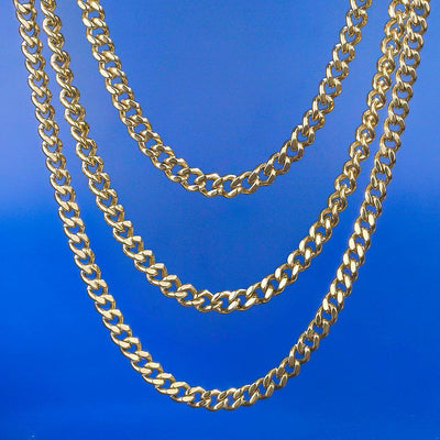 5.5mm Miami Cuban Link Chain set in 14K Gold