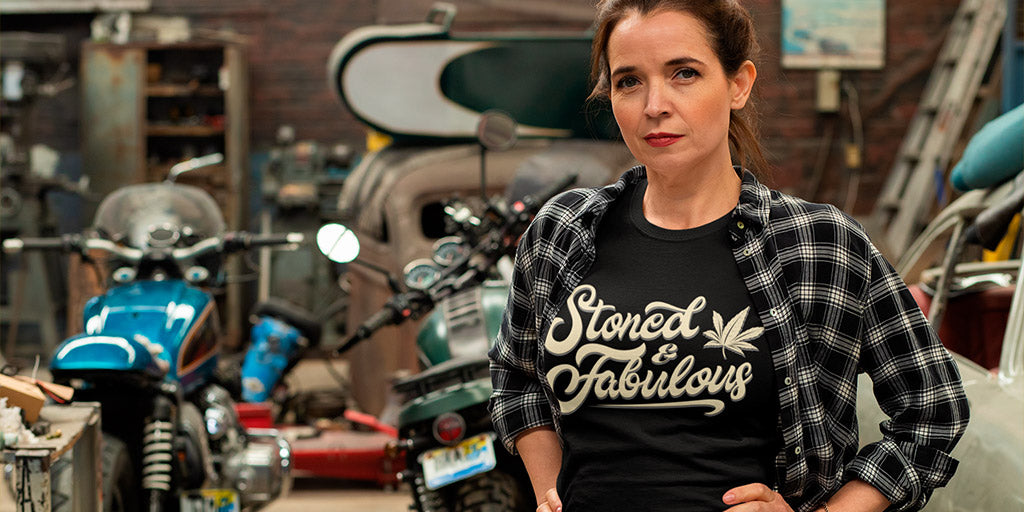 Stoner And Fabulous Funny Women's T-Shirt - Magic Leaf Tees