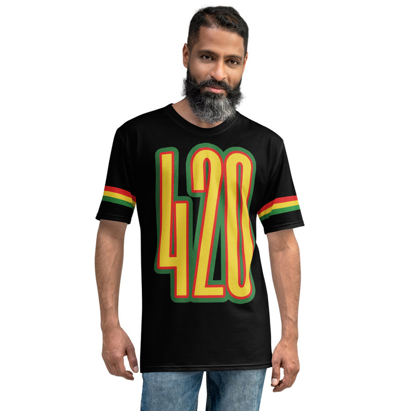 420 Rasta Colors All Over Print T-Shirt - Magic Leaf Tees