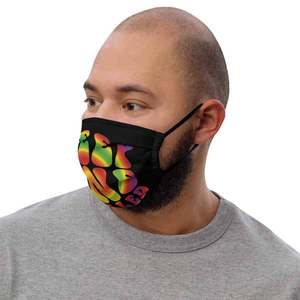 Keep One Rolled Pot Leaf Swirl Premium Face Mask - Magic Leaf Tees